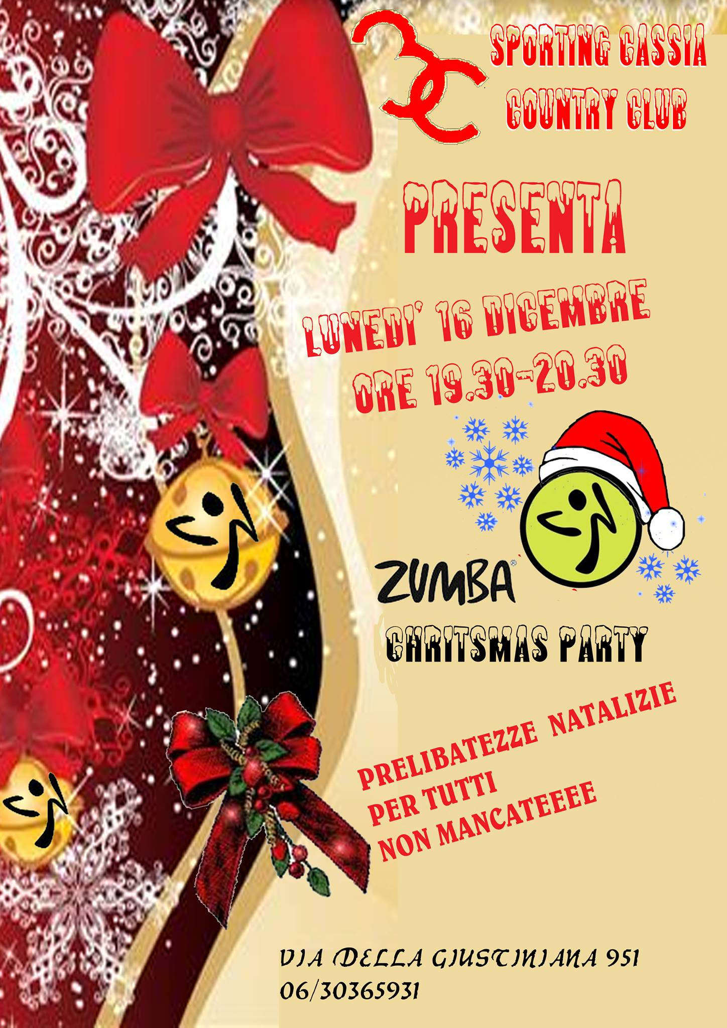 ZUMBA CHRISTMAS PARTY | Sporting Cassia 3C